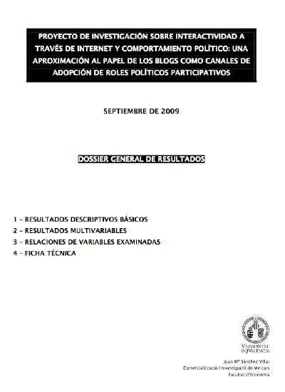 Interactividad en Internet y la adopción de roles políticos participativos