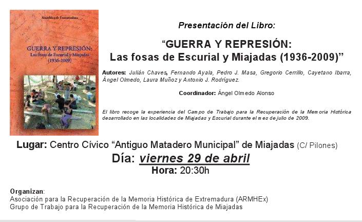Guerra-y-represion in Guerra y represión: Las fosas de Escurial y Miajadas (1936-2009)
