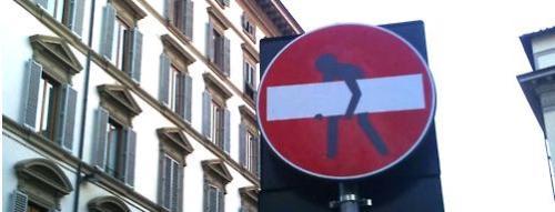 señal de tráfico de Florencia